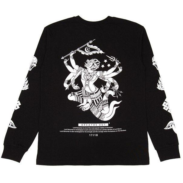Лонгслив BREATHE OUT - Hanuman, Чёрный