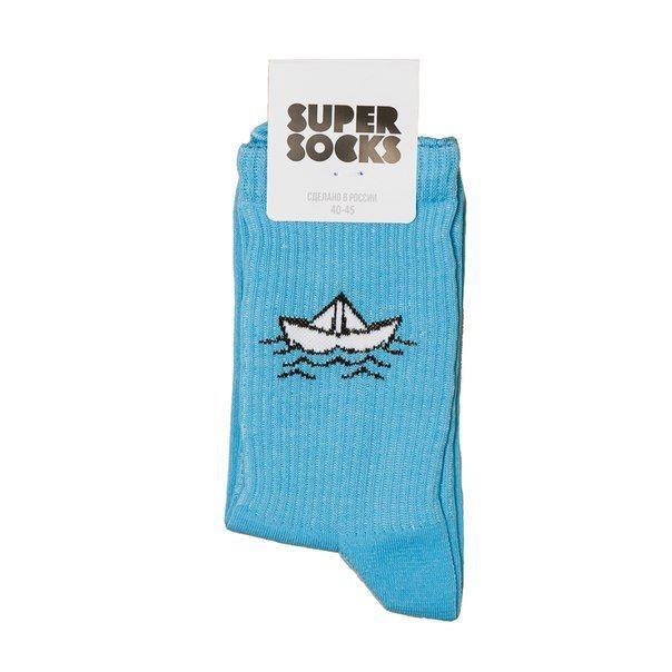 Носки SUPER SOCKS Кораблик Синий (40-45)