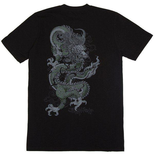 Футболка BREATHE OUT - Glowing Dragon, Чёрный