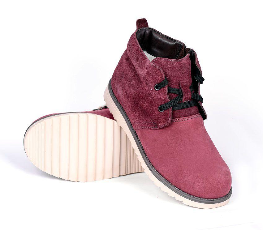 Ботинки жен TREK Кембридж бордово-розовый HK86-30-M
