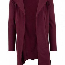 Кардиган URBAN CLASSICS Long Hooded Open Edge Cardigan (Красный) TB1389