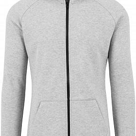 Толстовка URBAN CLASSICS Athletic High Neck Interlock Zip Hoody (Серый (Grey) TB1417