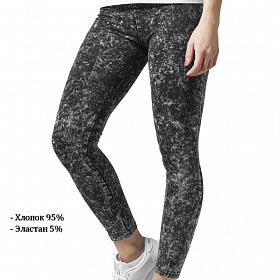 Леггинсы URBAN CLASSICS Ladies Acid Wash Leggings (Серый (Dark Grey) TB777