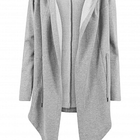 Кардиган URBAN CLASSICS Ladies Hooded Sweat Cardigan (Серый) TB1330