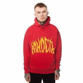 Худи Юность «Пламя» - лого Красный