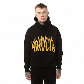 Худи Юность «Пламя» - лого Черный