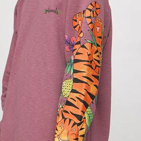 "Свитшот ANIMALS ""Тигр"" фиолетовый"