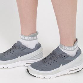 Носки CODERED короткие Shortline Sock Белый/Светло-Серая Полоса